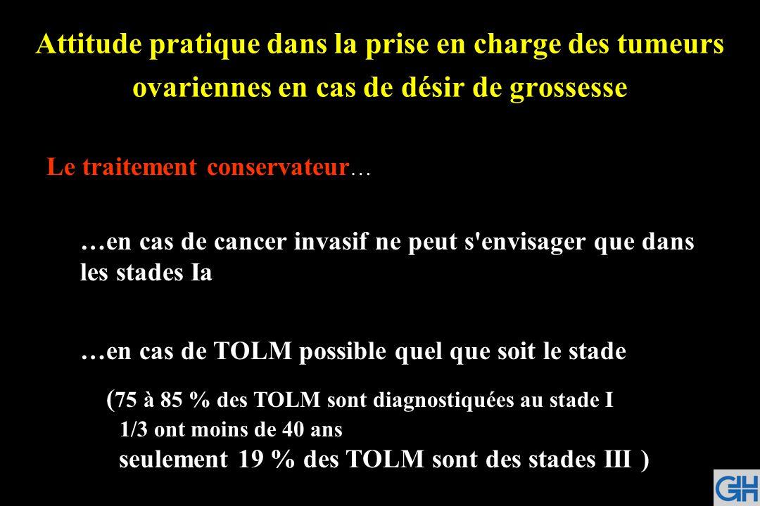 Attitude pratique dans la prise en charge des tumeurs ovariennes en cas de désir de grossesse
