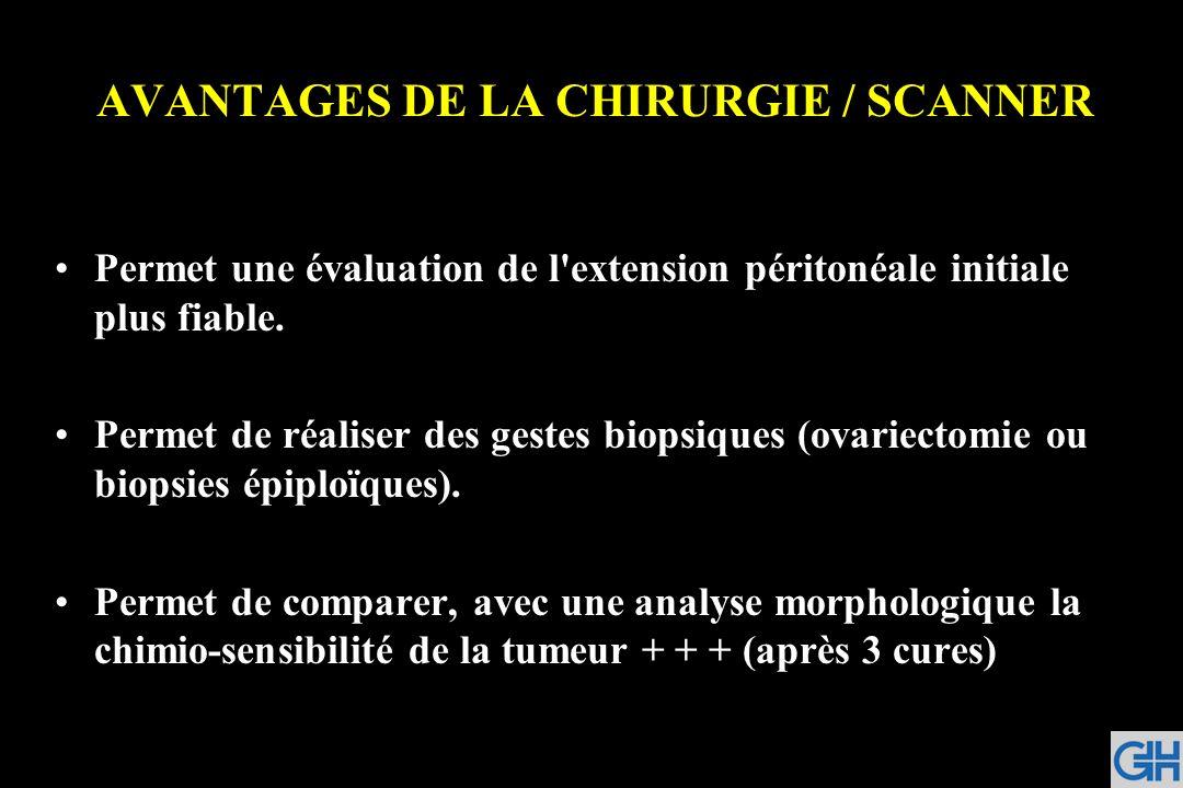 AVANTAGES DE LA CHIRURGIE / SCANNER