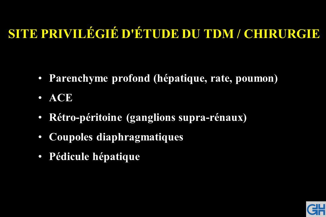 SITE PRIVILÉGIÉ D ÉTUDE DU TDM / CHIRURGIE