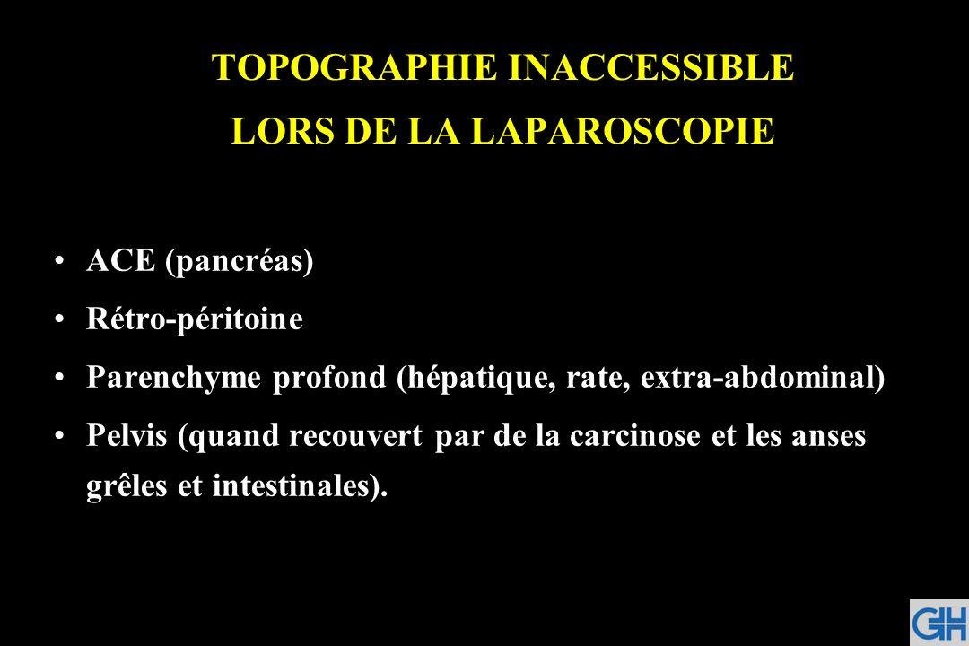 TOPOGRAPHIE INACCESSIBLE LORS DE LA LAPAROSCOPIE