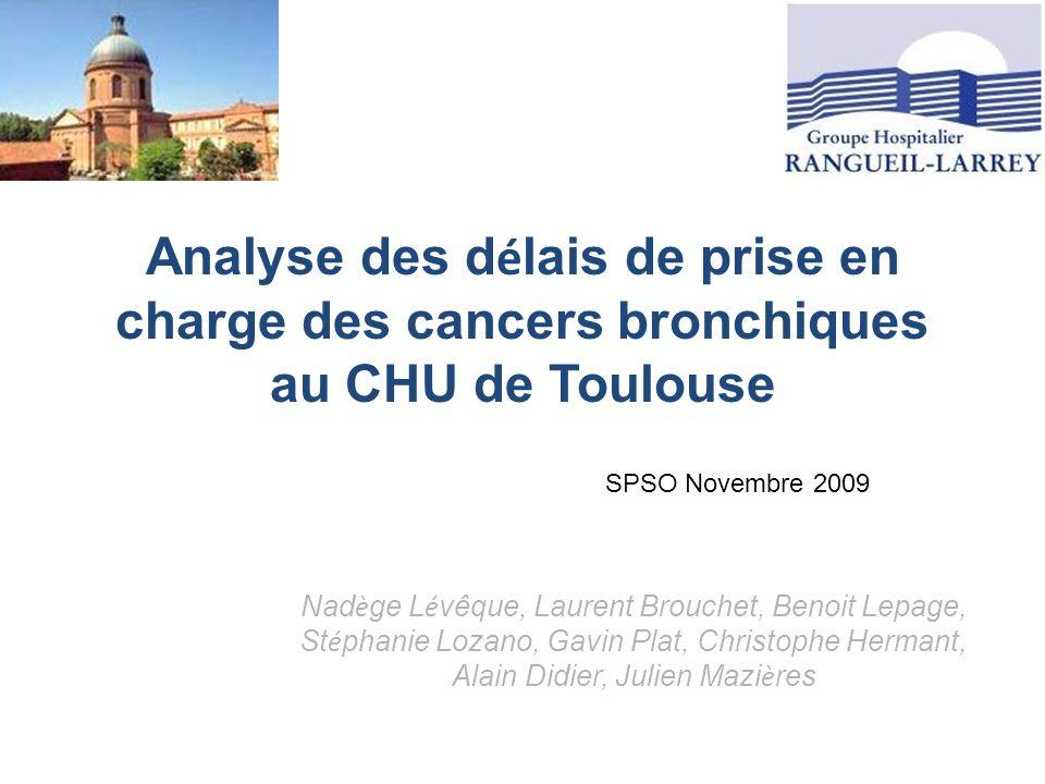 Analyse des délais de prise en charge des cancers bronchiques au CHU de Toulouse