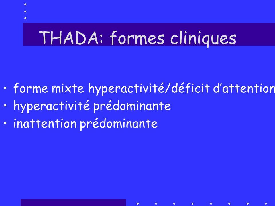 THADA: formes cliniques