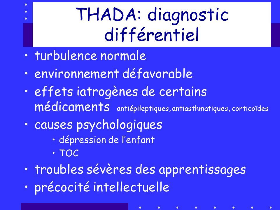 THADA: diagnostic différentiel
