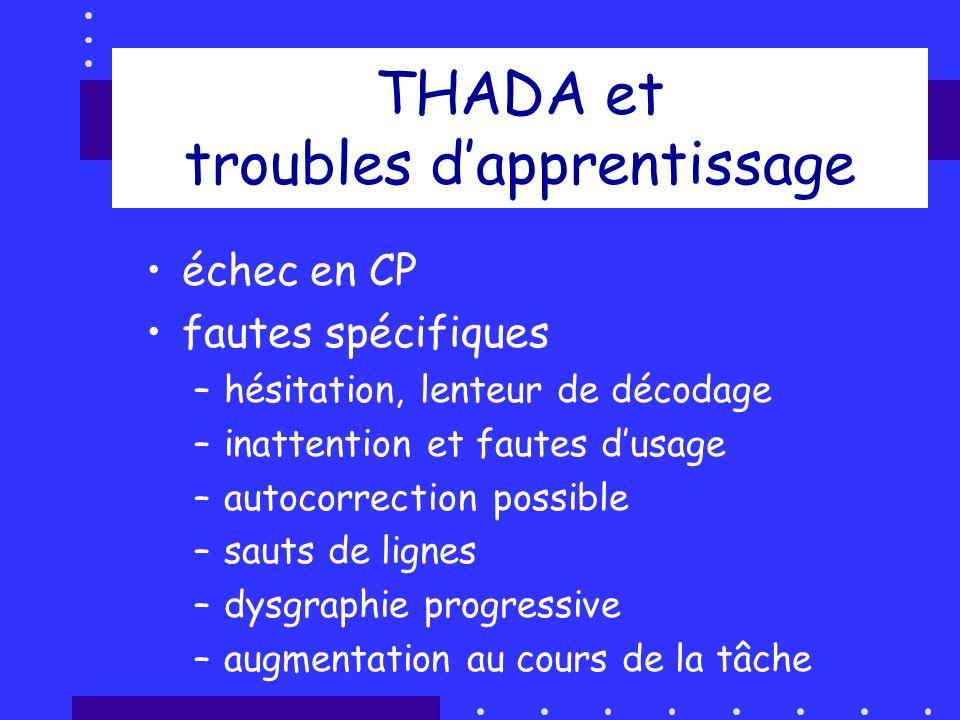THADA et troubles d'apprentissage