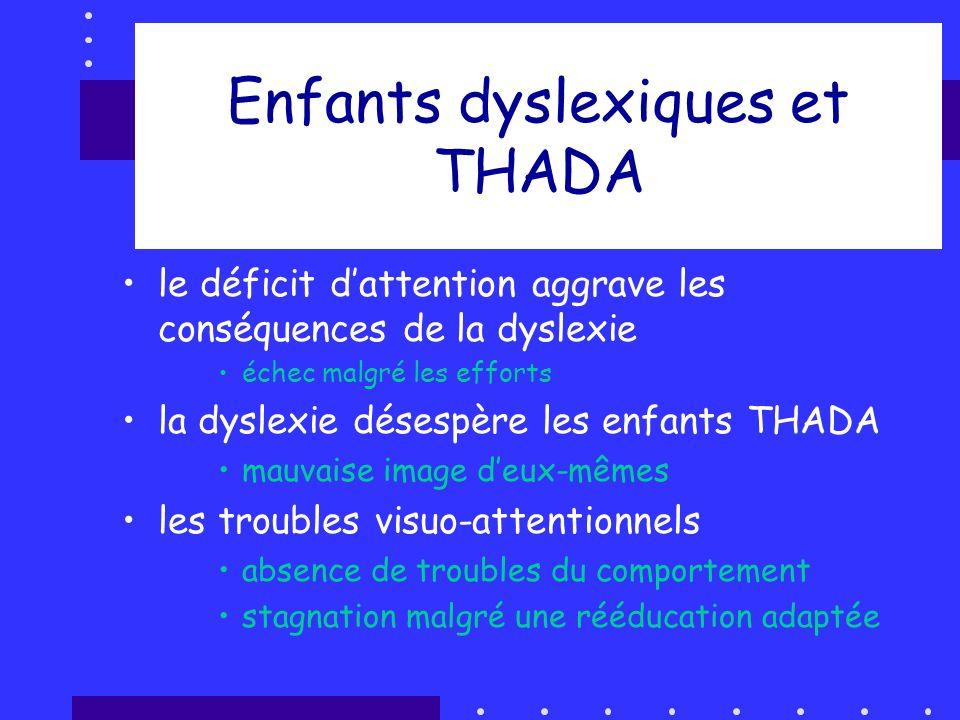 Enfants dyslexiques et THADA
