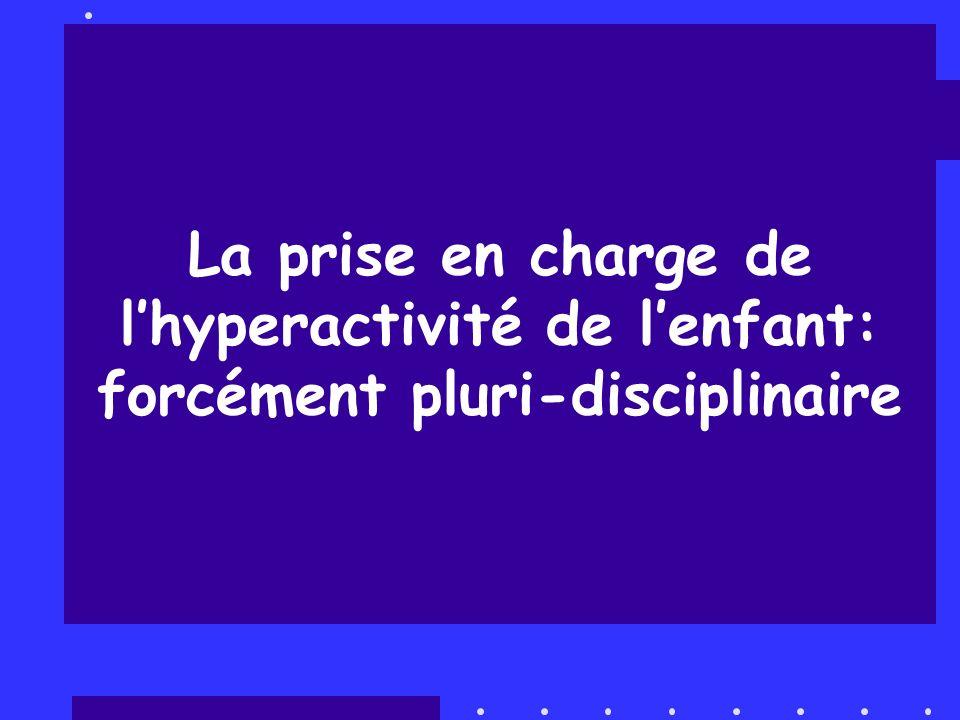 La prise en charge de l'hyperactivité de l'enfant: forcément pluri-disciplinaire