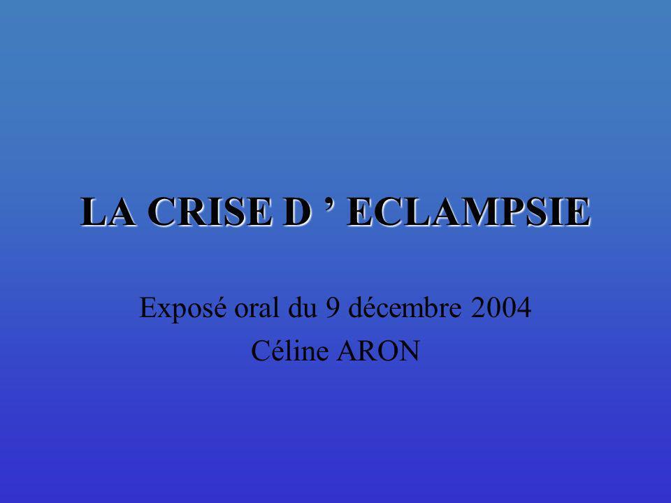 Exposé oral du 9 décembre 2004 Céline ARON