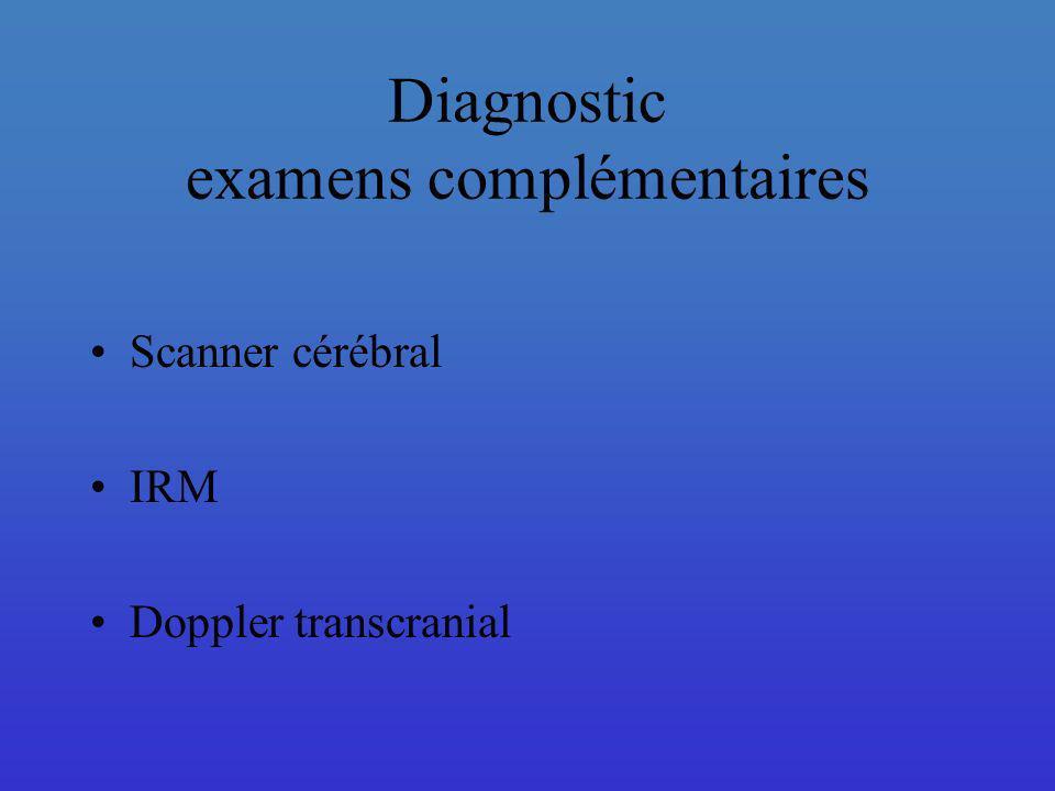 Diagnostic examens complémentaires