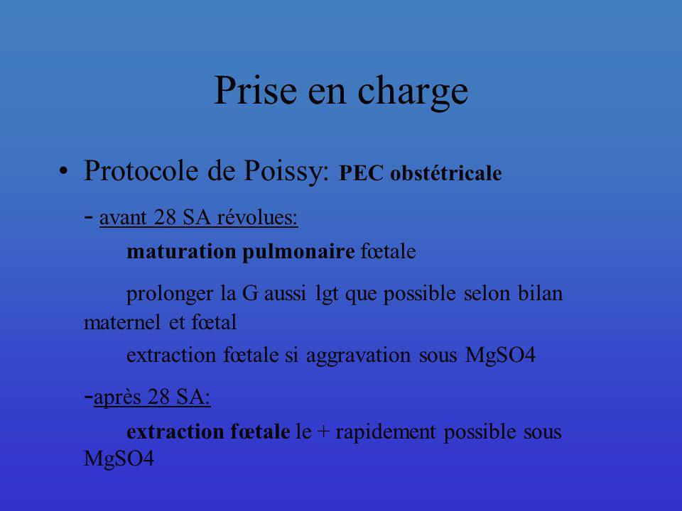 Prise en charge Protocole de Poissy: PEC obstétricale