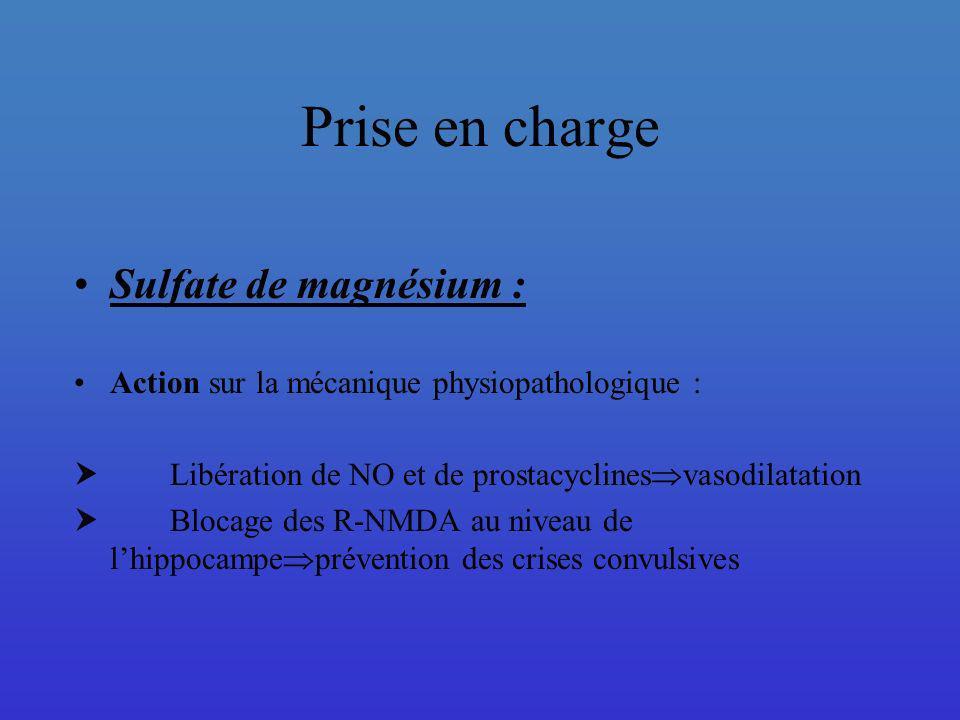 Prise en charge Sulfate de magnésium :