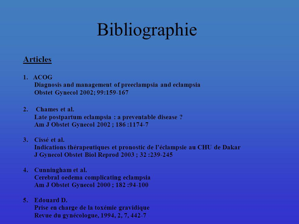 Bibliographie Articles 1. ACOG