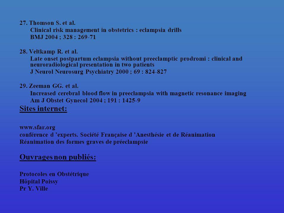 Sites internet: Ouvrages non publiés: 27. Thomson S. et al.