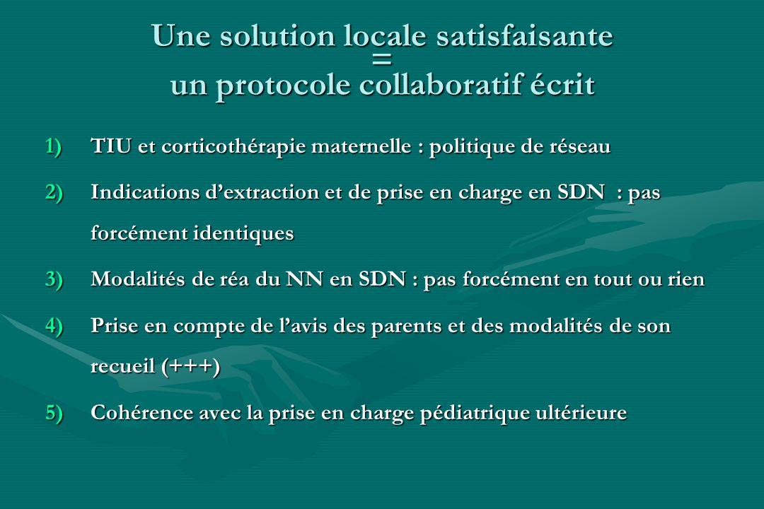 Une solution locale satisfaisante = un protocole collaboratif écrit