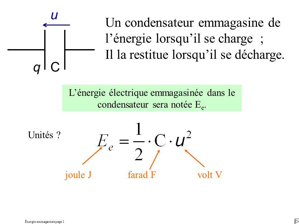 Énergie emmagasinée page 1