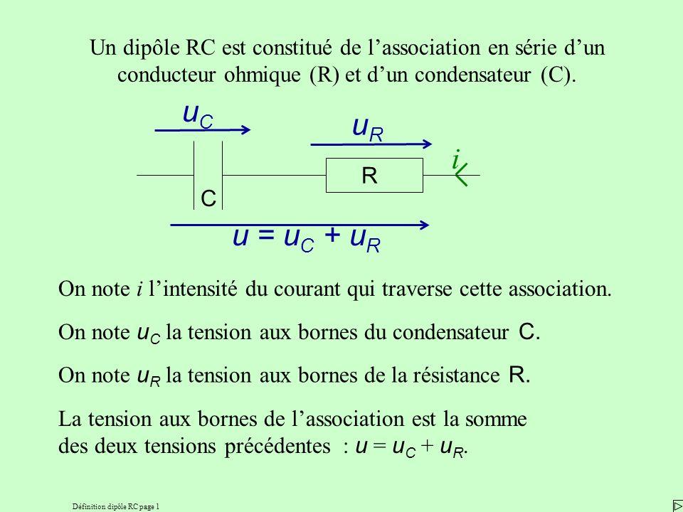 Définition dipôle RC page 1