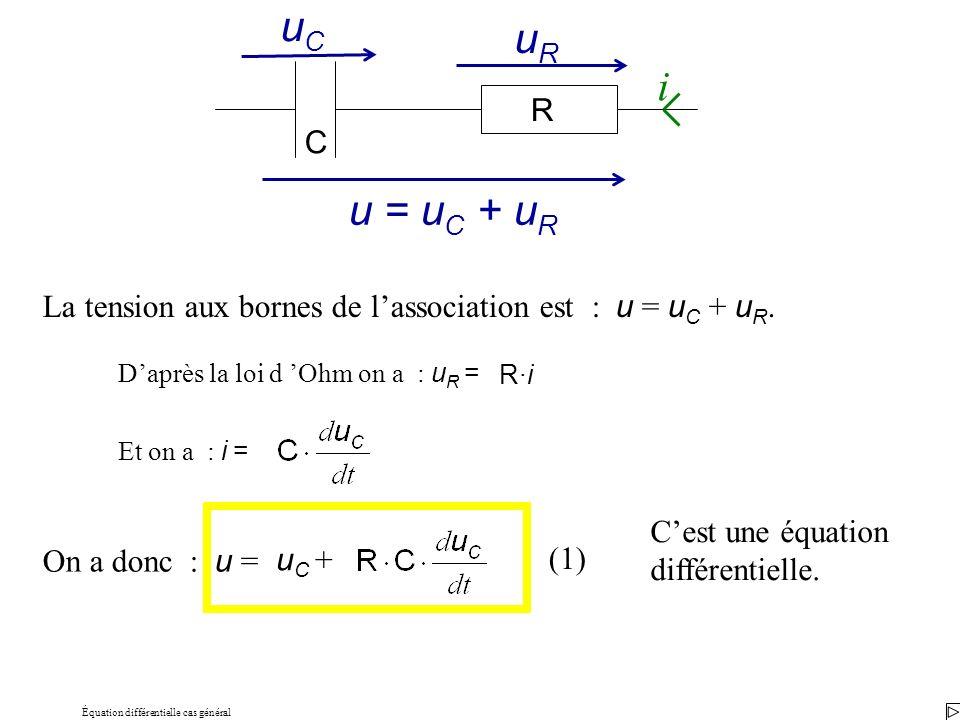 Équation différentielle cas général