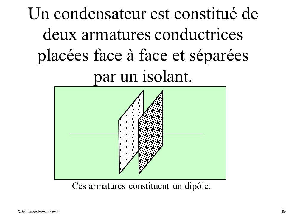 Définition condensateur page 1