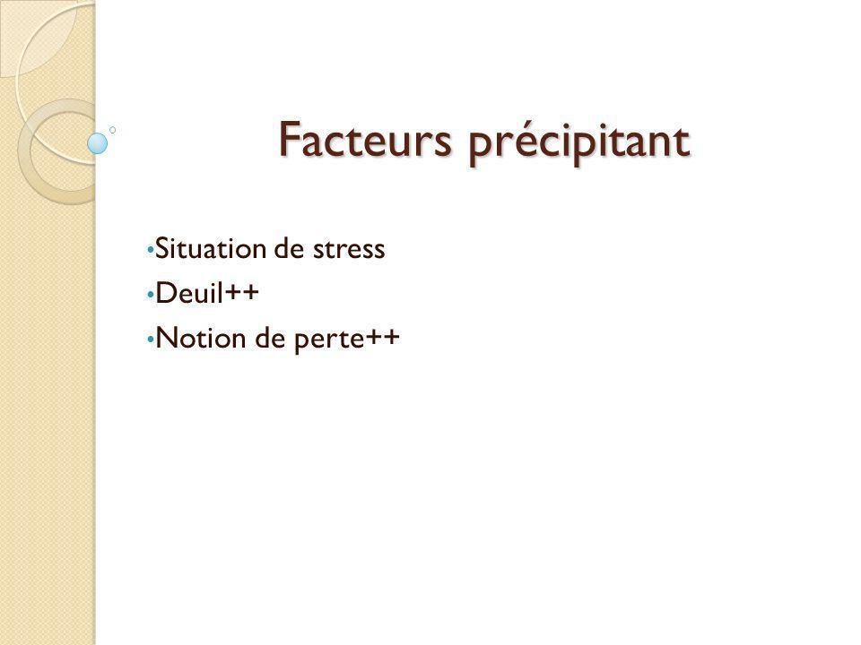 Situation de stress Deuil++ Notion de perte++