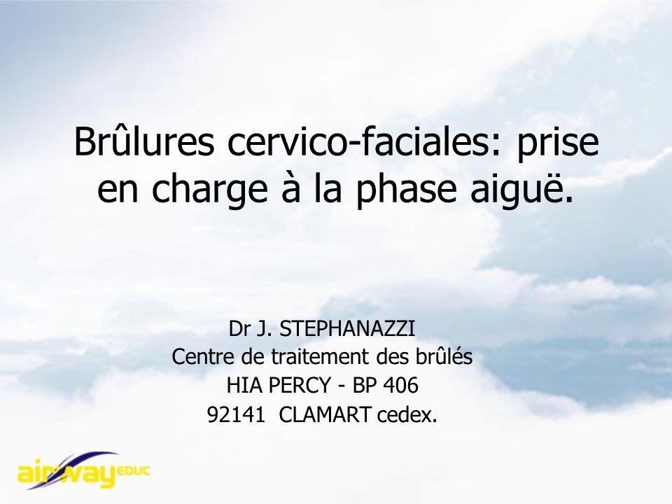 Brûlures cervico-faciales: prise en charge à la phase aiguë.