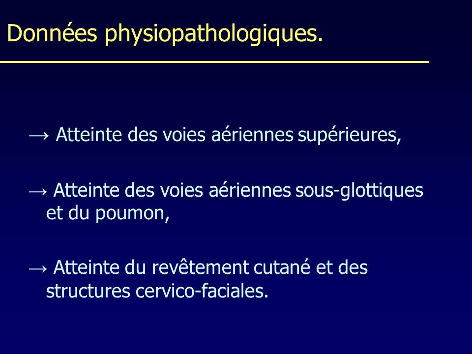 Données physiopathologiques.