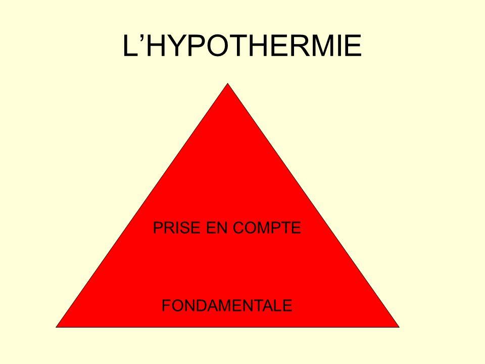 L'HYPOTHERMIE PRISE EN COMPTE FONDAMENTALE