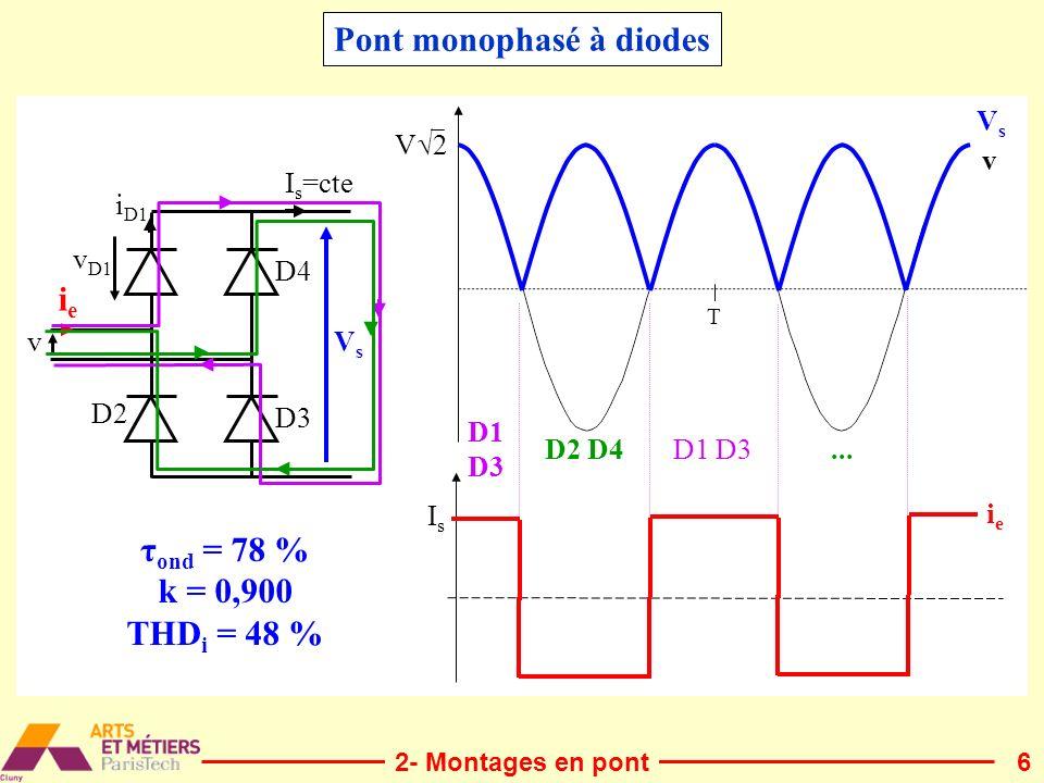 Pont monophasé à diodes