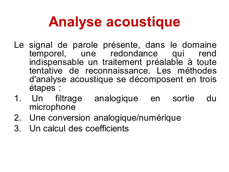 Analyse acoustique