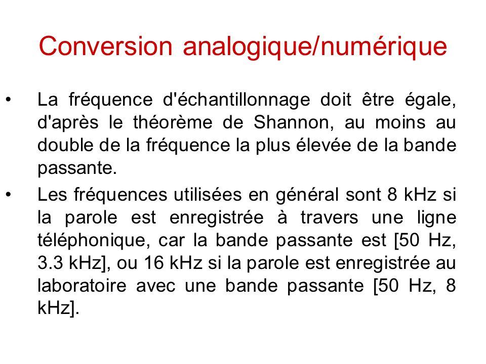 Conversion analogique/numérique