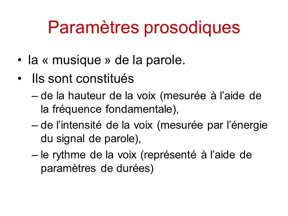 Paramètres prosodiques