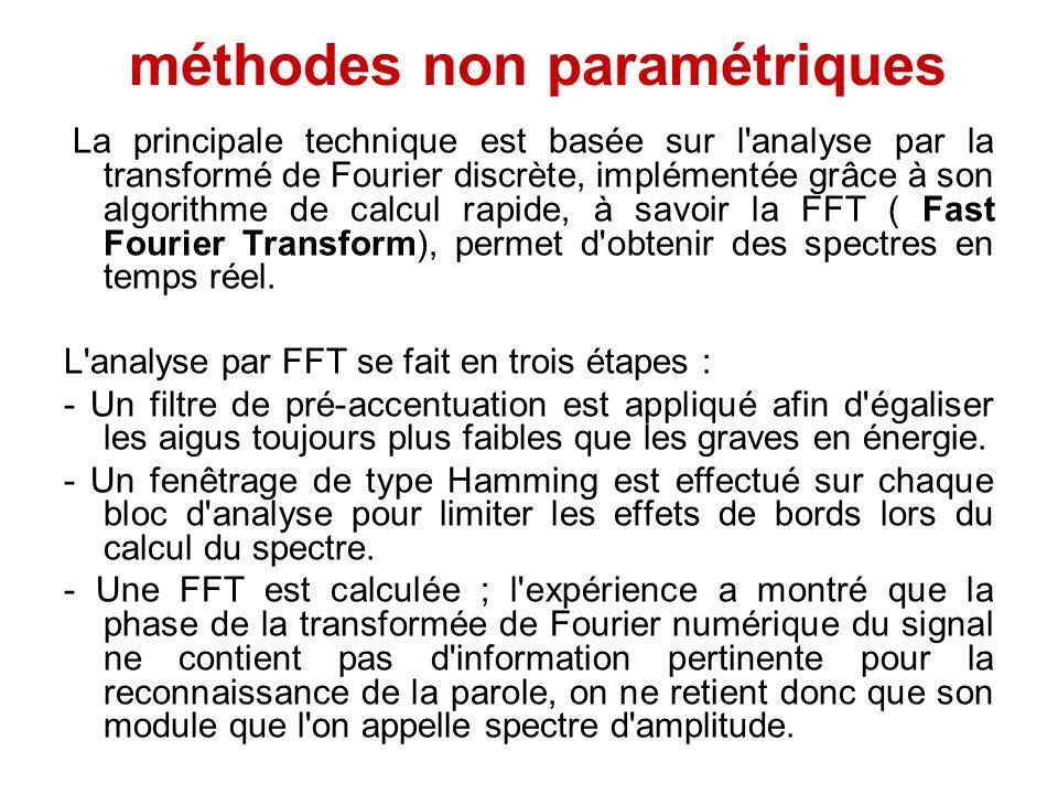 méthodes non paramétriques