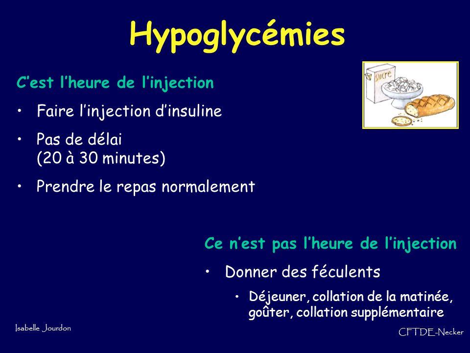 Hypoglycémies C'est l'heure de l'injection