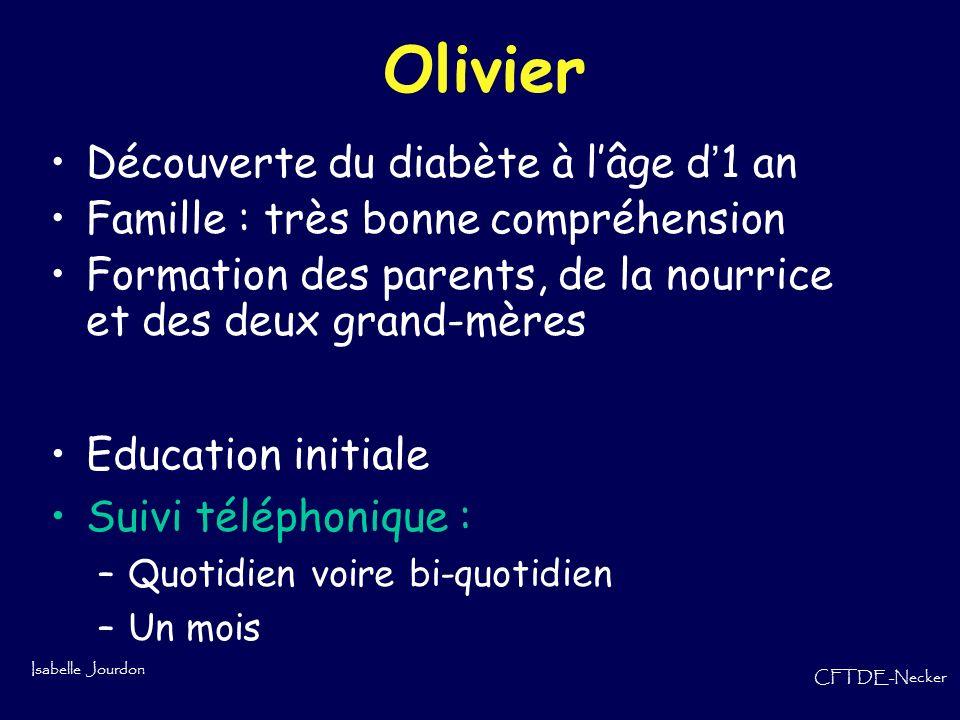 Olivier Découverte du diabète à l'âge d'1 an