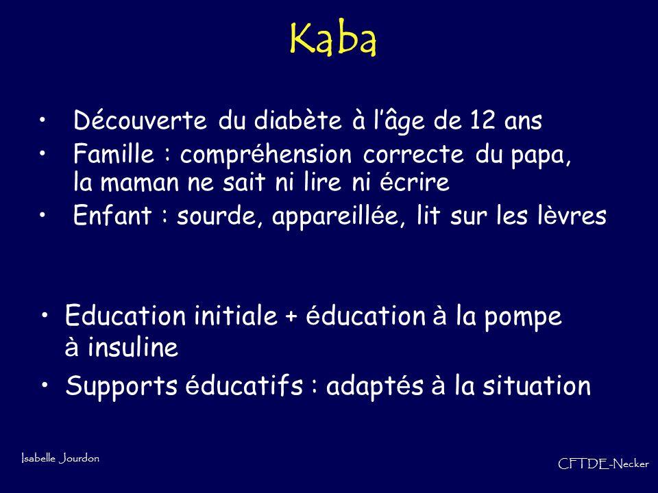 Kaba Education initiale + éducation à la pompe à insuline