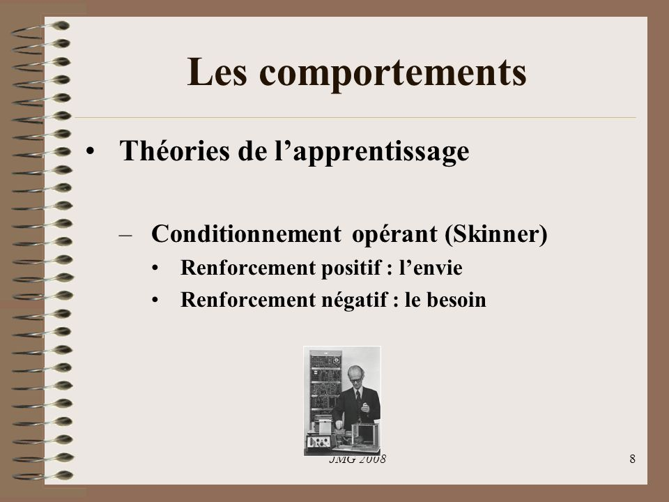 Les comportements Théories de l'apprentissage