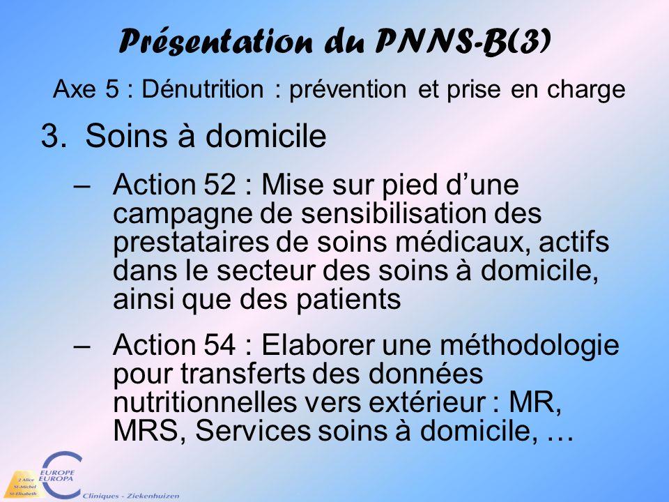 Présentation du PNNS-B(3) Axe 5 : Dénutrition : prévention et prise en charge