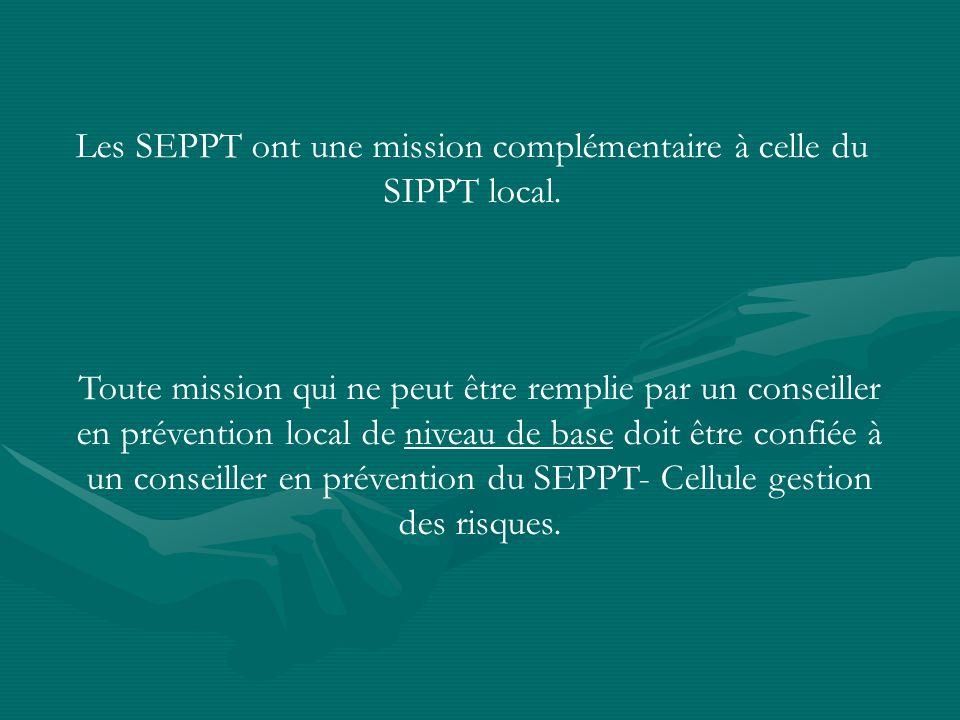 Les SEPPT ont une mission complémentaire à celle du SIPPT local.