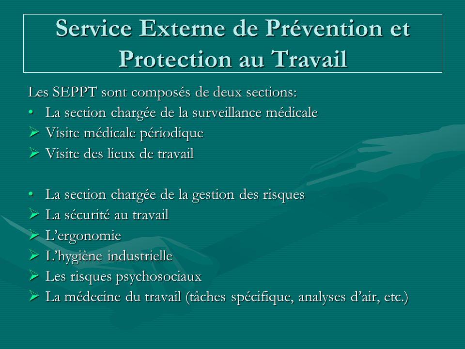 Service Externe de Prévention et Protection au Travail