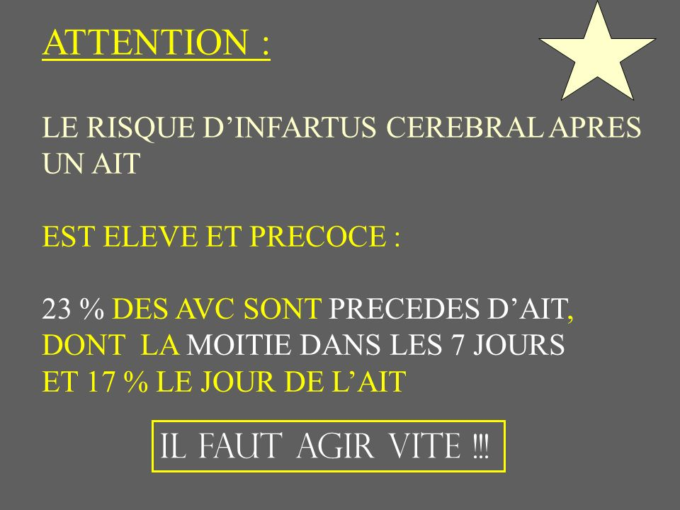 ATTENTION : IL FAUT AGIR VITE !!!