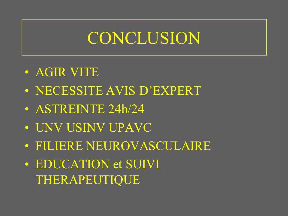 CONCLUSION AGIR VITE NECESSITE AVIS D'EXPERT ASTREINTE 24h/24