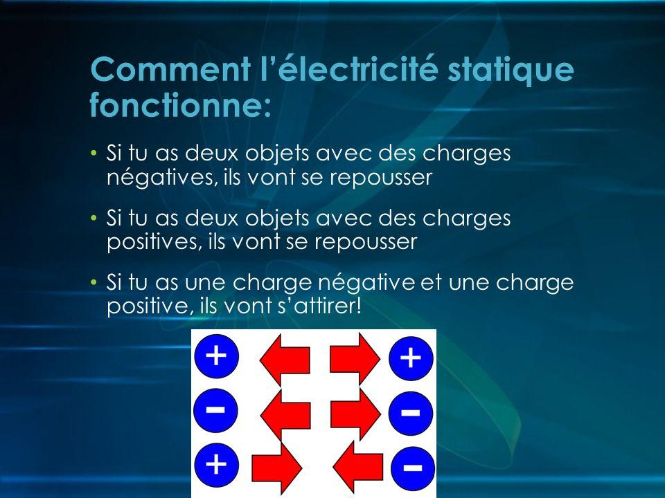 Comment l'électricité statique fonctionne: