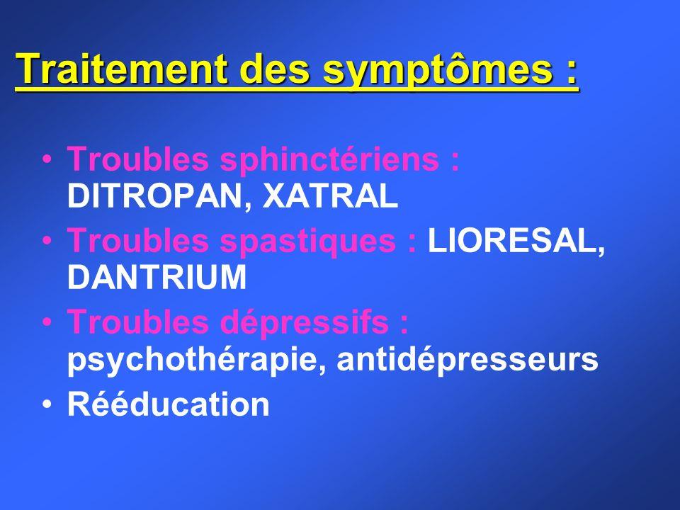 Traitement des symptômes :