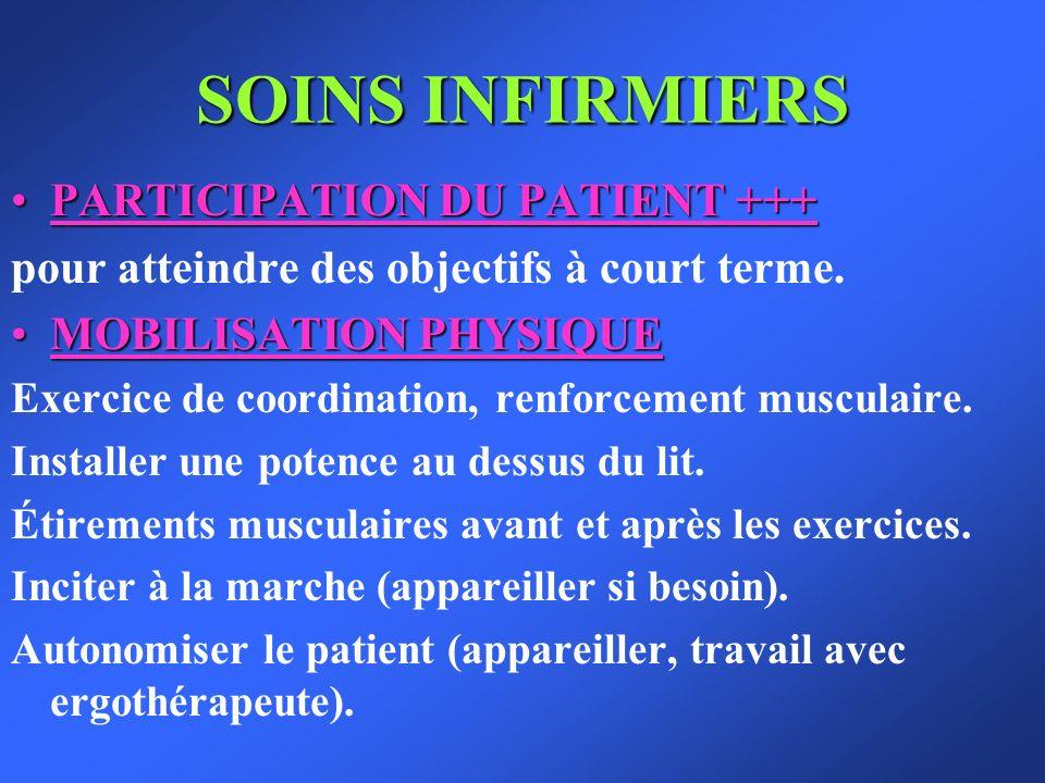 SOINS INFIRMIERS PARTICIPATION DU PATIENT +++