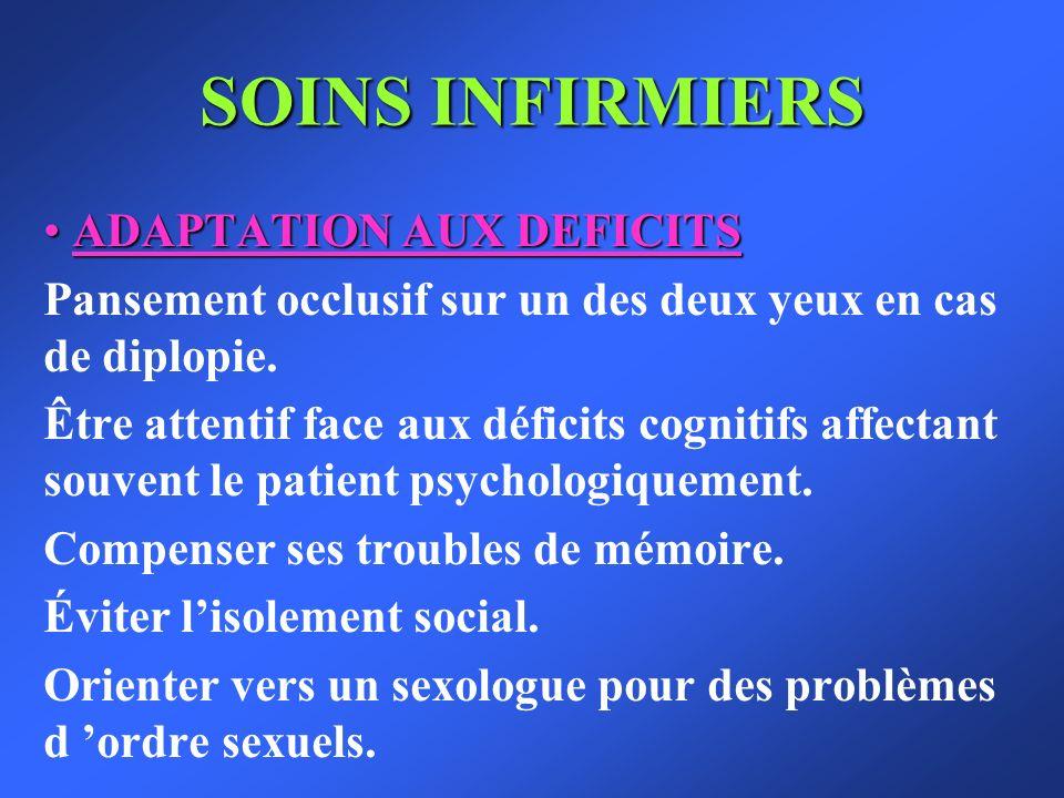 SOINS INFIRMIERS ADAPTATION AUX DEFICITS