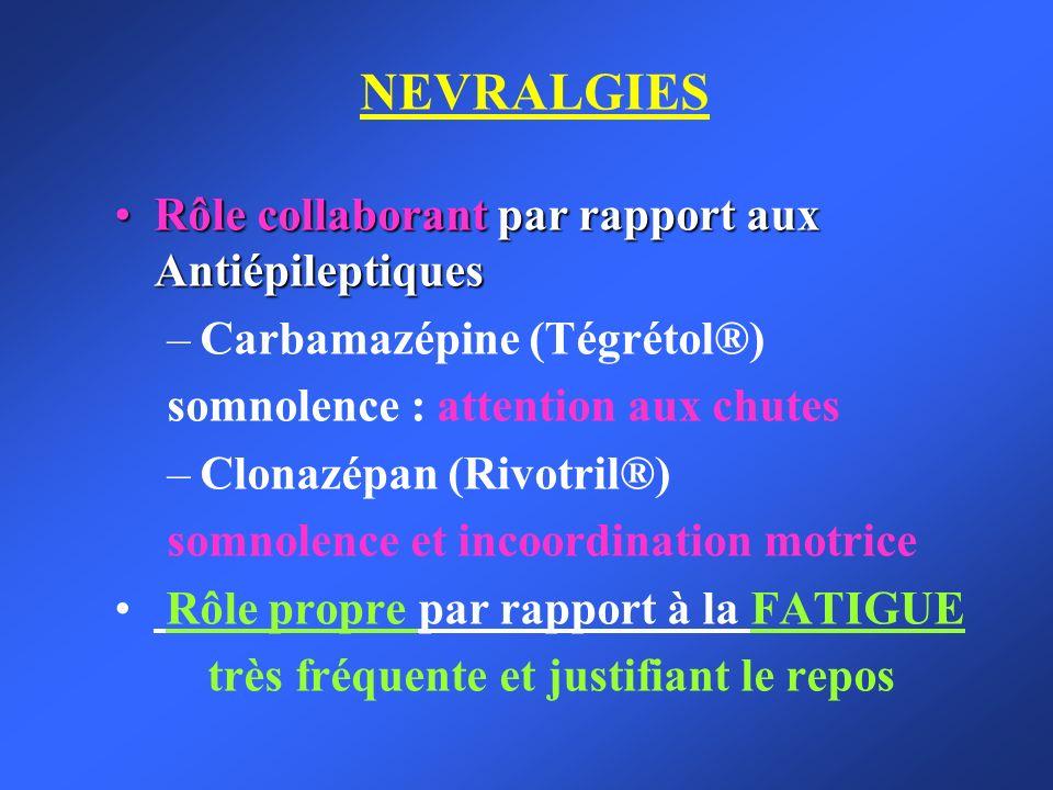 NEVRALGIES Rôle collaborant par rapport aux Antiépileptiques