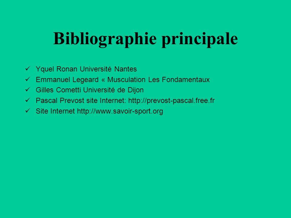 Bibliographie principale