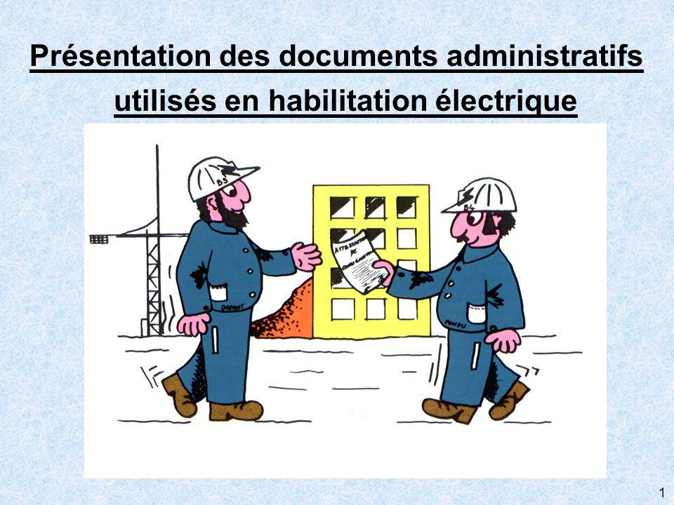 Présentation des documents administratifs