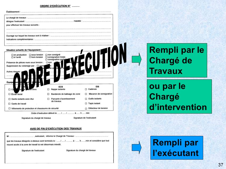 Chargé d'intervention
