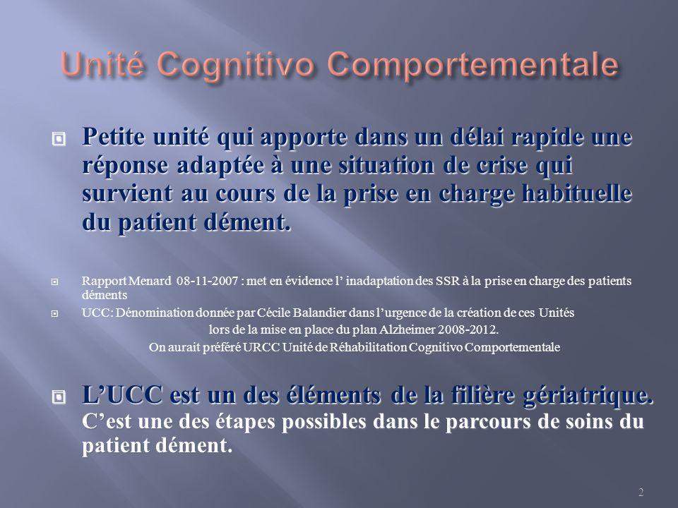 Unité Cognitivo Comportementale