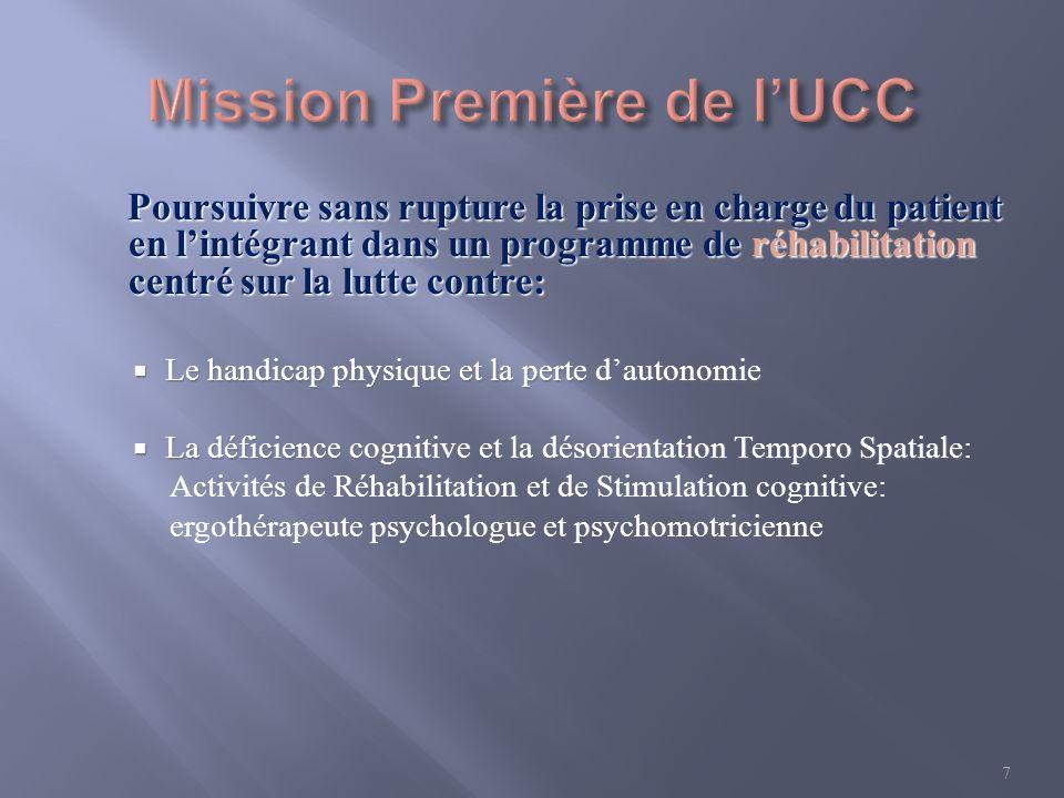 Mission Première de l'UCC