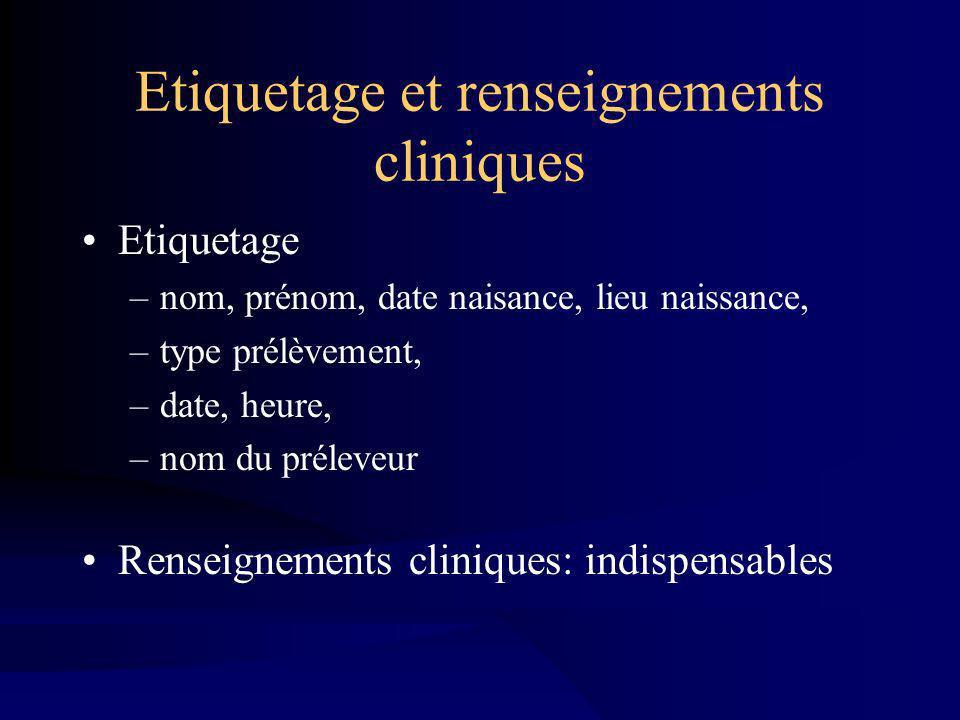 Etiquetage et renseignements cliniques
